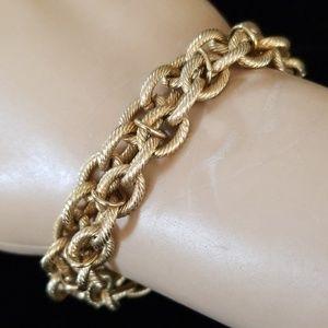 Vintage Estate Gold Chain Link Bracelet EUC